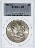 Morgan Slver Dollar 1883 cc Photographie stock