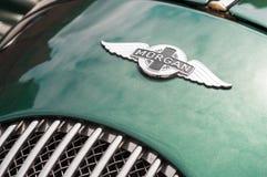 Morgan sports car badge Royalty Free Stock Photo