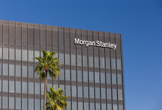 Morgan Stanley Building et logo Photos stock