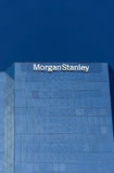 Morgan Stanley Building and Logo. LOS ANGELES, CA/USA - JULY 11, 2015: Morgan Stanely building and logo. Morgan Stanley is an American multinational financial royalty free stock images