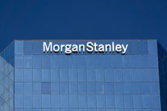 Morgan Stanley Building and Logo Stock Images