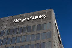 Morgan Stanley Building and Logo Royalty Free Stock Photo