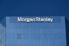 Morgan Stanley Building och logo Arkivbilder