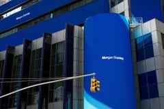 Morgan Stanley en Times Square Imágenes de archivo libres de regalías