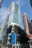 Morgan Stanley Headquarters. The Morgan Stanely headquarters, a global financial services firm, in Times Square New York City. The corporation was formed by stock images