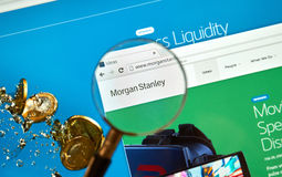 Morgan Stanley web page Stock Image