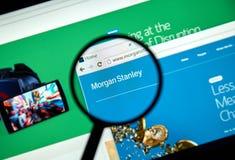 Morgan Stanley web page Royalty Free Stock Image
