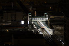 Morgan Station. In Chicago at night royalty free stock photo