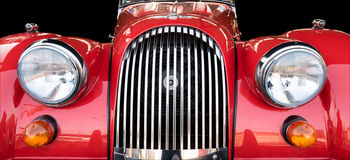 Morgan + 4. Worcester , UK - March 13 2016 : Morgan + 4 motor car put on display by its owner at a entusiasts meeting. This was a free to enter meeting with no stock images
