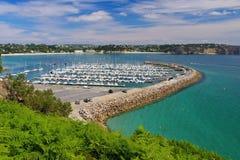 Morgat Marina near Batterie du Kador in Brittany. France royalty free stock photography