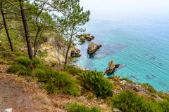 Morgat, sea view from the cliffs in Brittany Royalty Free Stock Photography