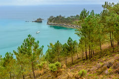 Morgat, sea view from the cliffs, Brittany Stock Images