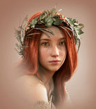Morgause, when she was a young girl, 3d CG Royalty Free Stock Photography