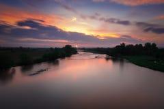 Morgen über dem Maritsa-Fluss Lizenzfreies Stockbild