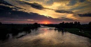 Morgen über dem Maritsa-Fluss Lizenzfreie Stockbilder