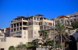 Morgen, alte Stadt Akko, Israel Stockbild