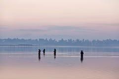 Morgen in Amarapura, Myanmar Stockfotografie