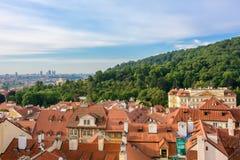 Morgen-Ansicht von Prag von Prag-Schloss, Tschechische Republik Stockfotos
