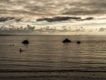 Morgen auf dem Finnischen Meerbusen der Ostsee Stockfoto
