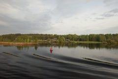 Morgen auf dem Fluss Stockfotografie