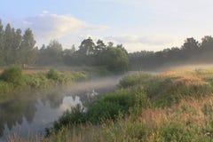 Morgen auf dem Fluss stockfoto