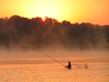 Morgen auf dem Fluss. Lizenzfreies Stockbild