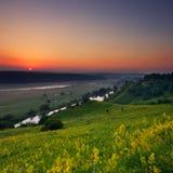 Morgen auf dem Hügel Lizenzfreies Stockfoto