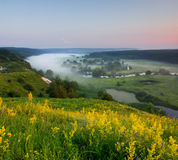 Morgen auf dem Hügel Stockfotos