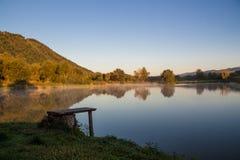 Morgen auf dem Teich Stockfotos