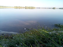 Morgen auf einem Dnipro-Fluss Stockfotografie