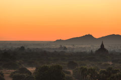 Morgen Bagan Stockfoto
