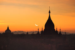 Morgen Bagan Stockbild