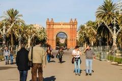 Morgen bei Arc de Triomf, Barcelona Spanien Stockbilder