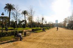 Morgen bei Parc de la Ciutadella, Barcelona, Spanien Stockbilder
