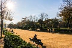 Morgen bei Parc de la Ciutadella, Barcelona Spanien Lizenzfreie Stockfotografie