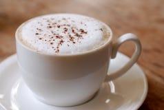 Morgen-Cappuccino stockbild