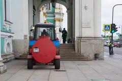 Morgen, der Haupteingang zum Einsiedlerei-Museum Stockfoto
