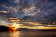 Morgen an der Seeküste Lizenzfreie Stockfotografie