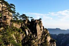 Morgen des Bergs Huang Stockfotografie