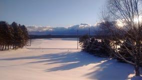 Morgen des verschneiten Winters in Ohio Lizenzfreie Stockfotos