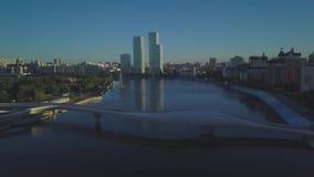 Morgen die Atmosphäre in der Stadt stock video