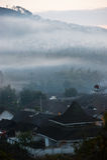 Morgen-Dorf Lizenzfreies Stockbild