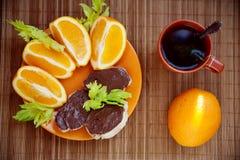 Morgen ein gesundes Frühstück Lizenzfreies Stockbild