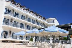 Morgen in einem griechischen Hotel, Korfu Stockbild