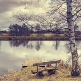 Morgen f.m. Hunte flod Fotografering för Bildbyråer