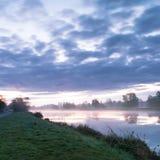 Morgen f.m. Hunte flod Royaltyfria Foton