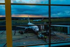 Morgen-Flug Stockfotos