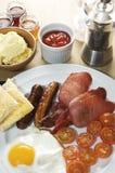 Morgen-Frühstück-Fischrogen Stockfoto