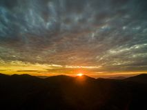 Morgen hat Berge, Fujian, Porzellan eingelaufen stockbild