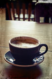 Morgen heißer Latte Stockfotografie